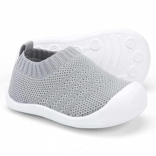 KOWAYI Zapatillas para bebé para aprender a andar, para niños y niñas: zapatillas para gatear, suela blanda, color, talla 24 EU