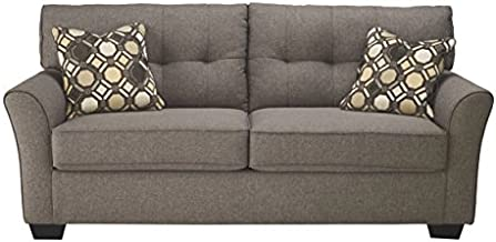 Signature Design by Ashley - Tibbee Contemporary Sofa Sleeper w/ 2 Pillows - Full Mattress, Slate