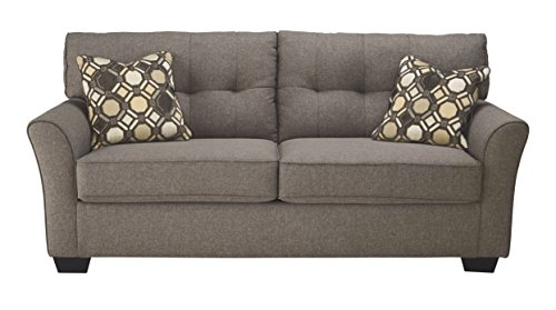 Signature Design by Ashley - Tibbee Full Sofa Sleeper - Sleek Tailored Couch with Pull Out, Slate