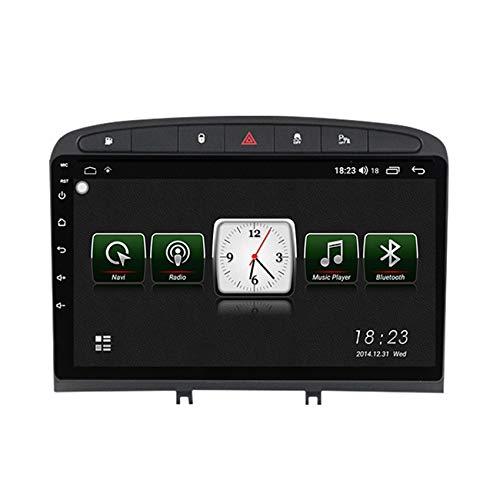 Radio 2 Din Autoradio Bluetooth para Peugeot 408 2010-2016 Pantalla Táctil HD Soporte Estéreo Llamadas Manos Libres Bluetooth FM RDS Enlace espejo carplay(Incluida Cámara de Trasera),Black 7731,1+16G