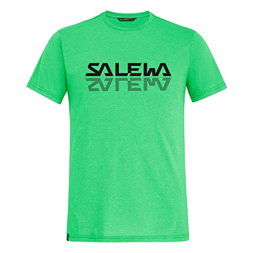 Salewa Herren Hemden und T-Shirts Reflection DRI-REL M S/Tee, Summer Green Melange, 48/M, 00-0000027852