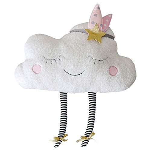 LAAT Cojín Almohada de Sofá Forma de la Nube Muñeca Cushion Decorativo para Dormitorio y Coche y Sofá