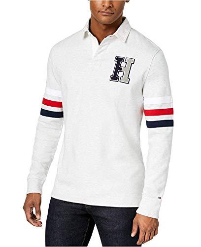 Tommy Hilfiger Men's Kunitz Rugby Classic Fit Polo Shirt,2XL Grey