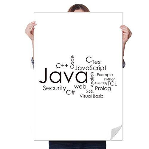 DIYthinker Adesivo de Java relacionado ao programa de programação, pôster de decoração, papel de parede, decalque de janela