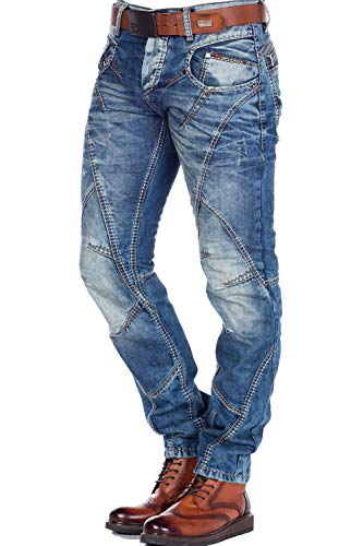 Cipo & Baxx Fashionjeans regular fit (blau), Blau, 31W / 32L
