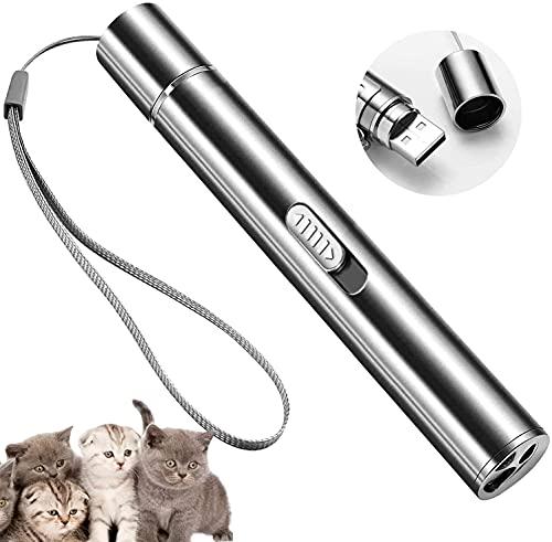 LED Pointer Katzenspielzeug, Spielzeug Haustier Katze interaktives Spielzeug/wiederaufladbar über USB, interaktives Fangspiel,Trainingsgerät Für Übungskatzen