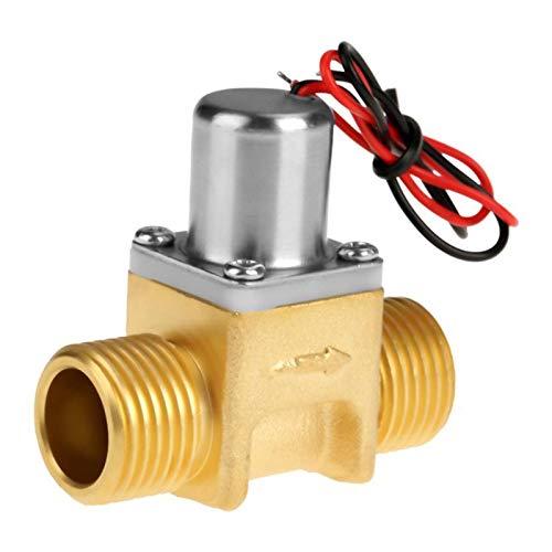 caja de batería marina DC4.5V 1/2' Pulso del flujo de agua de la válvula de solenoide de latón válvula electromagnética for Limpiador de inducción Jardín de riego