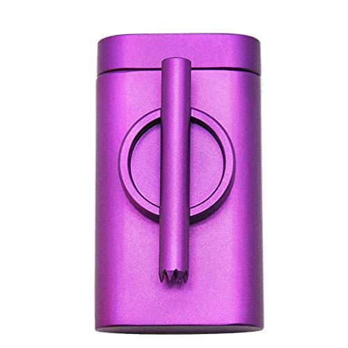 XFYJR Cigarette CaseMultifunctional Cigarette Case Aluminum PortablePressure and Moisture Proof All-in-one Smoking Set Metal