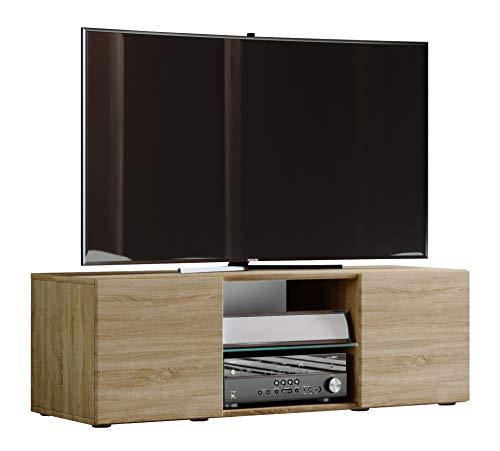 VCM Lowina 115 TV Lowboard Fernseh Schrank Möbel Tisch Holz Sideboard Medien Rack Bank Sonoma-eiche 40 x 115 x 36 cm