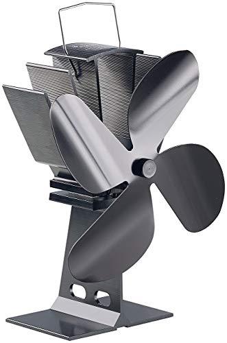 Carlo Milano Kaminlüfter: Stromloser Kaminofen-Ventilator mit 4 Lüfter-Blättern, für 65-345 °C (Kaminofenlüfter)