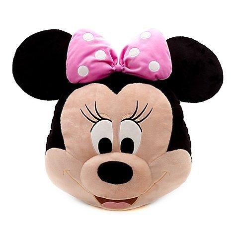 Minnie Mouse Big Face Cushion Disney Store 42x47cm soft toy