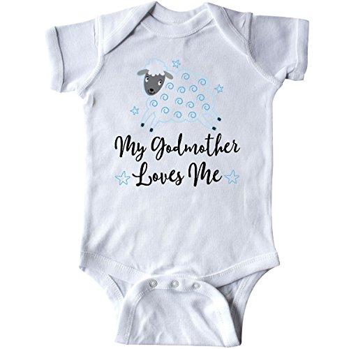 inktastic - Godmother Gift for Godson Lamb Infant Creeper 6 Months White 2bf68