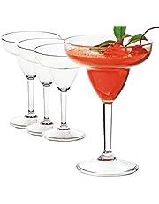 Juego de 4 copas de cóctel – estilo clásico para fiestas, 165 ml