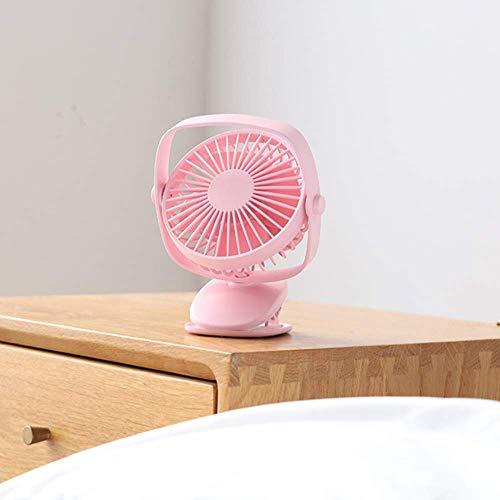 AG Mini Ventilatore Portatile, Ventilatore Esterno della Clip Mini Ventilatore da tavolino del Desktop Muto Piccolo Ventilatore del Ventilatore del USB del dormitorio dello Studente del passeggiatore