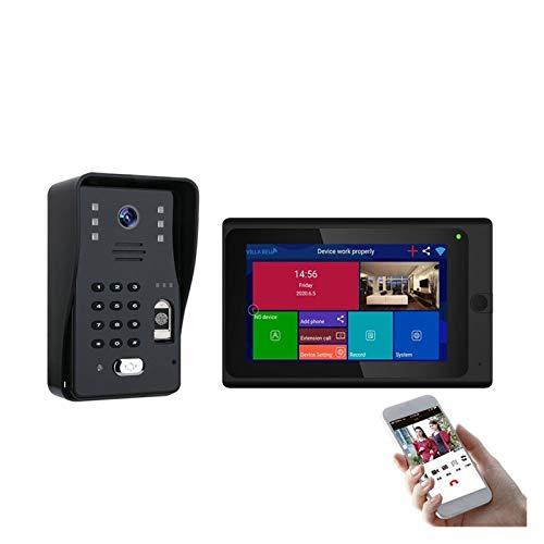 YSAYK Videoportero IP Inteligente Videoportero WiFi Teléfono Timbre De Puerta WiFi Timbre Cámara Alarma IR Cámara De Seguridad Inalámbrica (Color : 1 doorbell 1 Screen)