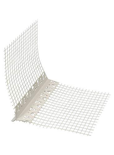 PVC Tropfkantenprofil 2,5 m Tropfkante mit Gewebe 250 cm Kantenprofil