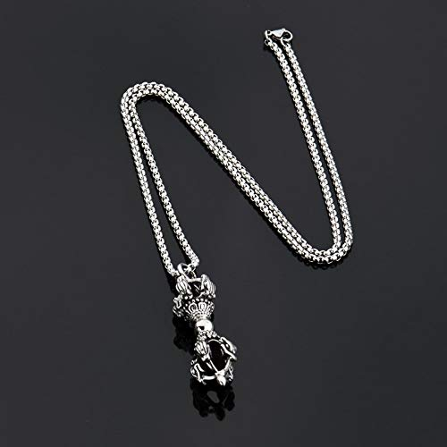 New Mysterious Mosaic Sceptre Chain Chain Pendant Pendente In Acciaio Inossidabile 316L Popcorn Collana Lunga Per Gioielli Da Uomo