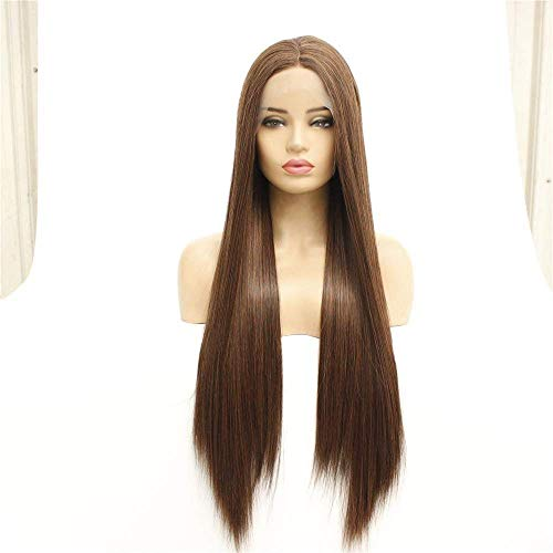 wig Women s front lace chemical fiber wig long straight hair wig headgear