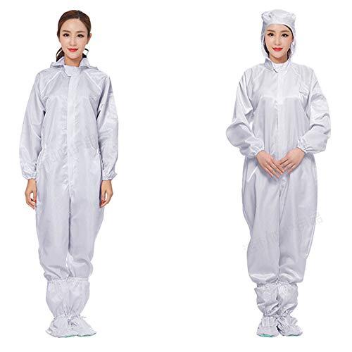 YZZ kledingstuk, antistatisch, eendelig, met kap, met schoenen, voor het schilderen van kleding met stofbescherming, schoon en steriel