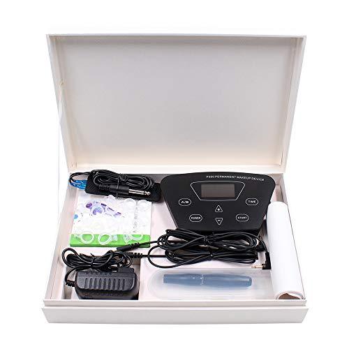 Tattoo Maschine Kit BIOMASER® Elektrische Tätowierung Set Permanent Make-up Tattomaschine Pen-Maschine für Augenbrauen Lip Make-up mit 10pcs Microblading Cartridge Nadeln Fußpedal und Übungshaut