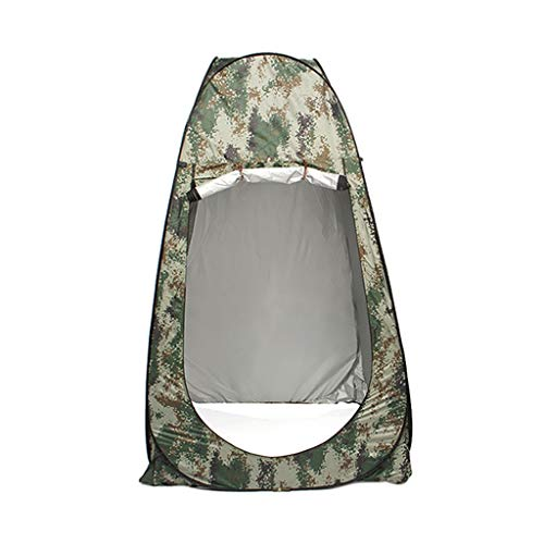 TTlove Shower Privacy Toilet Tent Beach Portable Changing Dressing Camping Pop Up tents Room Sun Sunshade Baby Outdoor Backpack Shelter Canopy(Camouflage,120x120x195cm)