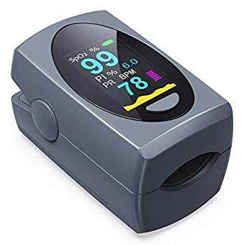 Pulse Oximeter Fingertip Digital Blood Oxygen Saturation Monitor for Heart Rate Monitor and SpO2 Levels Portable OLED Pulse Oximeter  Batteries Included
