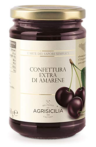 Agrisicilia Confettura Extra di Amarene, 360 Grammi