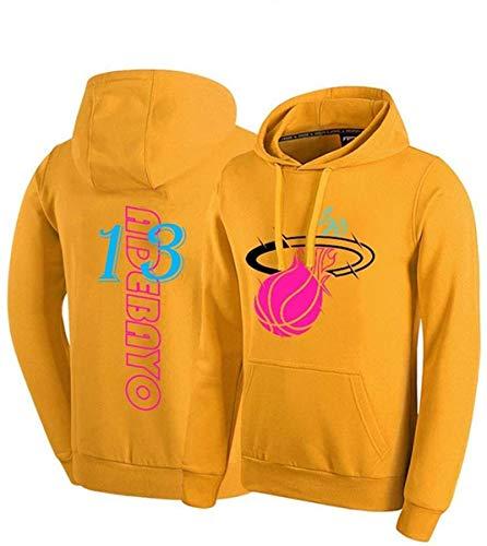 GIHI Sudadera con Capucha De Baloncesto De Los Hombres, Miami Heat Bam Adebayo # 13 Jersey Sudadera con Capucha Suelta Baloncesto Camiseta,S(160~165cm)