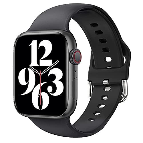 XYJ IWO 13 Pro T800 SmartWatch 2021 1.72 Pulgadas Llamada Bluetooth DIY DIY Fitness Pulsera Smart Watch Hombres Mujeres PK IWO W46 W56 Series 6, (Color: Negro) (Color : Black)