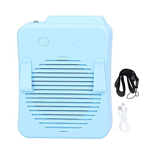 Cuifati Mini Ventilador de refrigeración USB, diseño de Doble Clip Delantero y Trasero, Ajuste de Velocidad del Viento de Tres velocidades, Adecuado para Senderismo de montaña, Pesca al Aire Libre,