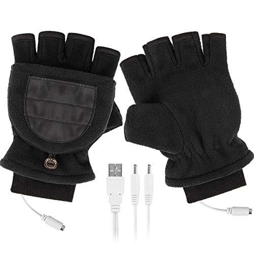 Camidy USB Beheizte Handschuhe Winter Halb Volle Fingerhandschuh mit Fingerabdeckung USB Beheizte Handschuhe Unisex Handwärmer für Männer Und Frauen Outdoor-Sport Typisierung