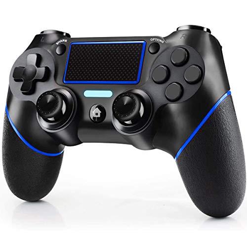Wireless Controller für PS4,Wireless Controller für PS4/ Pro/Slim/PC Bluetooth-Gamepad-Joystick mit Dual Shock Touch Panel 3,5mm Audiobuchse Sechsachsige Tasten Verbesserter ergonomischer Joystick