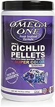 Omega One Super Color Sinking Cichlid Pellets, 2mm Small Pellets, 16.25 oz