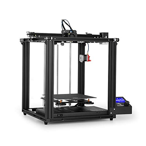 Fesjoy 3D Printers, 3D Printer, High -5 Pro 3D Printer DIY Kit with Upgrade Silent Motherboard PTFE Tubing Metal Extruder 220 * 220 * 300mm Build Resume Printing with 8GB TF Card White PLA Sample