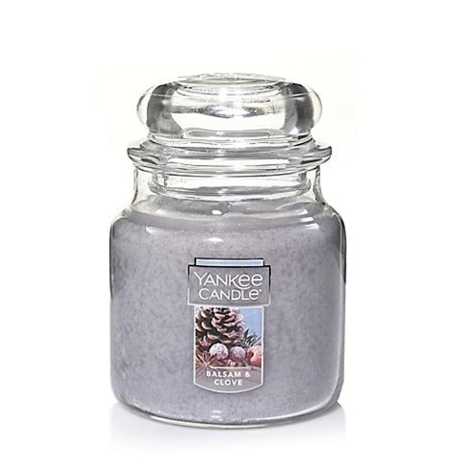 賛辞ベアリングサークルグレーYankee Candle Balsam &クローブSmall Jar Candle