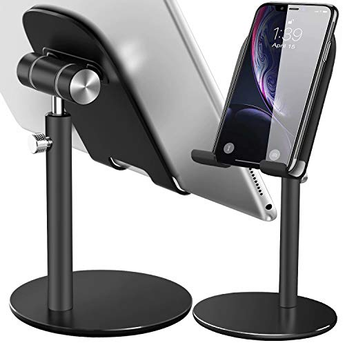 Swhatty Cell Phone Stand, Aluminum iPad Tablet Stand Holder for Desk, Angle Height...