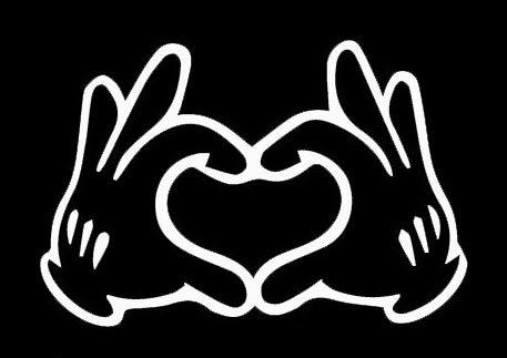 Makarios LLC Disney Love Hands Cars Trucks Vans Walls Laptop MKR | Blanco |5.5 x 3.75 |MKR673