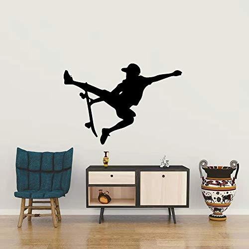 xinyouzhihi Kinderzimmer Hintergrund Skateboard Bild Wandaufkleber Kreative Wandaufkleber Selbstklebende Vinyl-Heimdekoration B 78x117cm