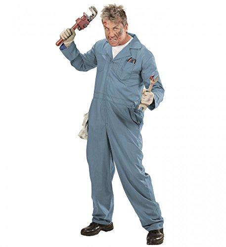 shoperama Mechaniker Herren-Kostüm Klempner Overall Zombie Schweißer Handwerker Blaumann, Größe:L