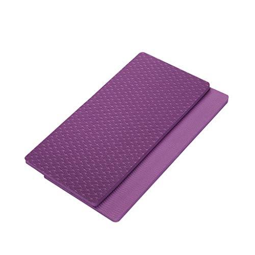 MOTOCO Yoga Knee Pad Pilates Workout Mat Halterung für Hands Wrists Knees Ellenbogenschützer Matten Übungsmatten für Yoga, Knie, Ellenbogen(17X34X1CM.Dunkelviolett)