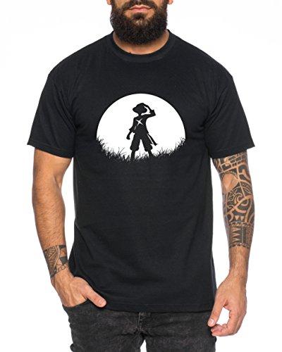 Sunrise Ruffy Herren T-Shirt one Luffy Monkey D. Piece, Farbe:Schwarz;Größe:XL
