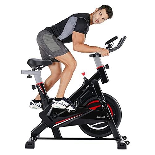 Ciclismo Indoor bicicleta estacionaria con la ayuda trasera, ultra silencioso ajustable entrenamiento magnética de bicicletas for uso en el hogar, plegable vertical cubierta ciclo de la bici con el mo