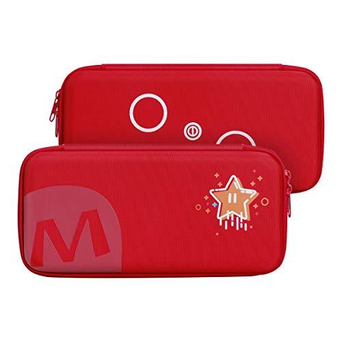 AFAITH - Custodia da viaggio compatibile con Nintendo Switch, per console Nintendo Switch e accessori (rosso)