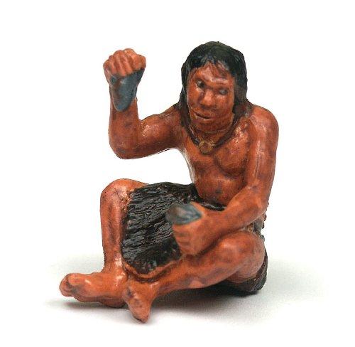 Neandertaler sitzend, Urmensch Spielzeug von Bullyland