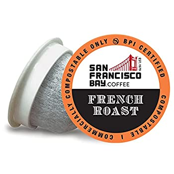 SF Bay Coffee OneCUP French Roast/Dark Roast 80 Ct Compostable Coffee Pods K Cup Compatible Including Keurig 2.0  Packaging May Vary