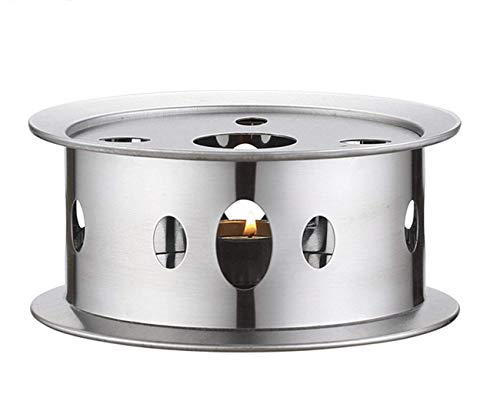 Coffee Teapot Dish Warmers,Stainless Steel Teapot Warmer with Tea Light Candle Lit Teapot or Coffee Warmer Base for Glass Teapot and other heatproof dish warming use.