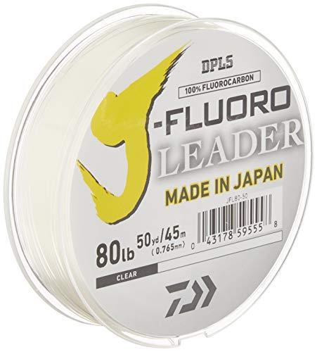Daiwa J-Fluoro Fluorocarbon Leader - 80 Pound - 50 Yards, Clear