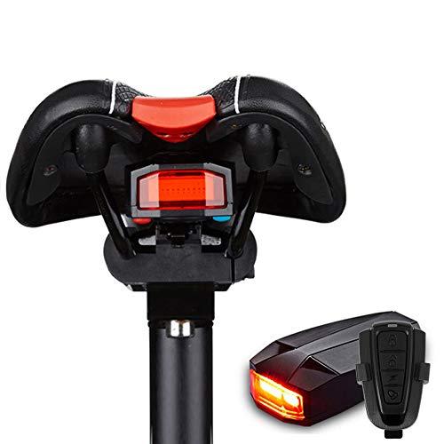 Fahrrad Rücklicht,Sicherheitsschloss Alarm LED-Rücklichter Intelligenter Bremssensor Diebstahlsicherung Fahrradschloss USB Wiederaufladbarer Alarm Sattel Wasserdicht für Motorrad und Fahrrad