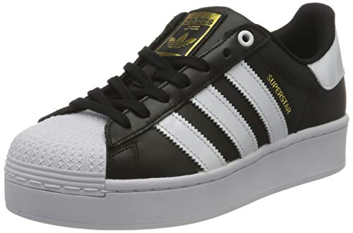 adidas Superstar Bold, Sneaker Mujer, Core Black/Footwear White/Gold Metallic, 38 EU