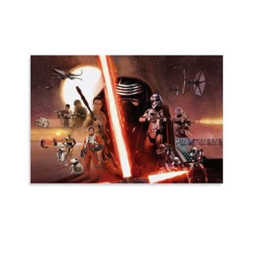 SSKJTC Anime No Fading Kunstdruck, Star Wars, Filmposter, The Force Awakens, 40 x 60 cm